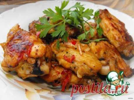 Чесночные куриные крылышки - кулинарный рецепт