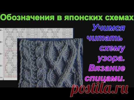 Обозначения в схеме вязания спицами. Как вязать по схемам. Алена Никифорова