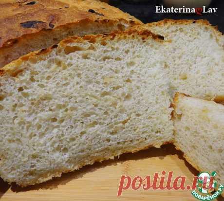 Хлеб без вымешивания с луком Кулинарный рецепт