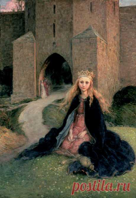 Princess with a spindle/   Hanna Pauli,  1896