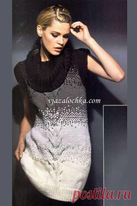 Маленькое вязаное платье