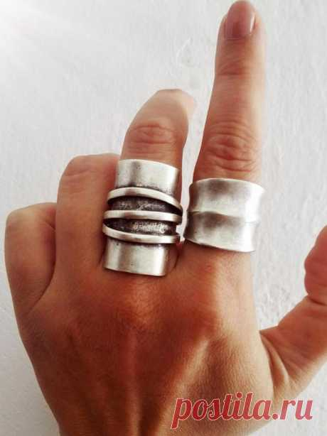 Boho Silver Modernist Ring Silver Statement Ring Ethnic   Etsy
