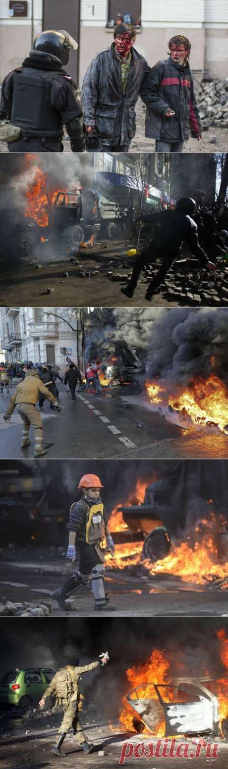 Киев в огне и крови: 30 фотографий не для слабонервных // KP.RU