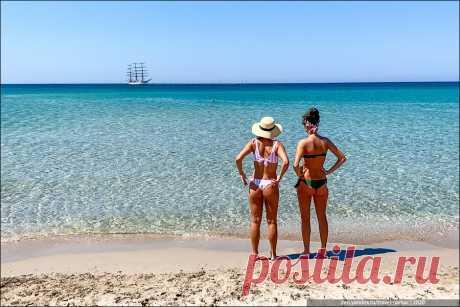 """Пляж, который называют """"Крымские Мальдивы», и совершенно по-делу   TravelManiac   Яндекс Дзен"""