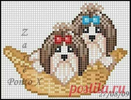SHITZU Cross Stitch Pattern PDF - Búsqueda de Google
