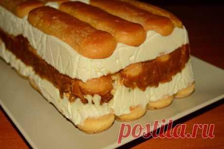 Королевский десерт: карамельный торт с печеньем Савоярди. Невероятно ароматный десерт, который так и тает во рту! - appetitno.net