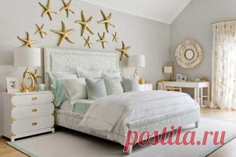 Морские акценты в дизайне интерьера спальни от Dyfari Interiors | Фотографии красивых интерьеров