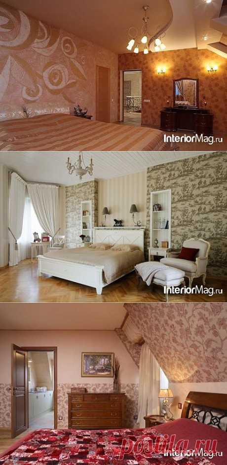 Комбинирование обоев в интерьере - фото | ИнтерьерМаг.ру