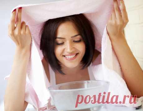 Паровая баня с эфирными маслами для жирной кожи