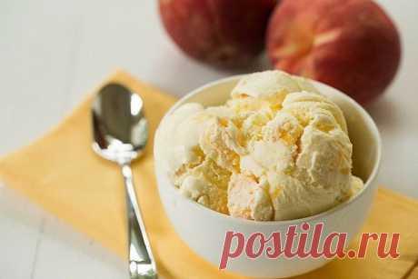Творожно-персиковое мороженое