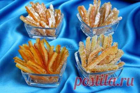 Апельсиновые цукаты из кожуры рецепт с фото пошагово - 1000.menu