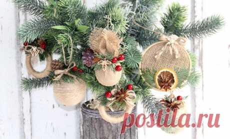 4 originálne návody na vianočné ozdoby z jutoviny - blog.kreativneruky.sk