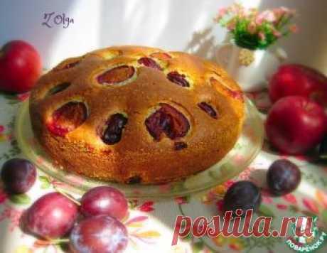 Пирог со сливами и яблоками – кулинарный рецепт