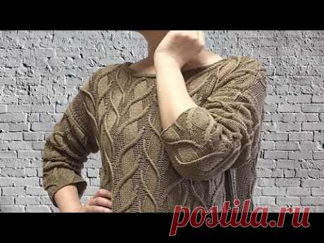 Модный Джемпер Shifting Sands  от Norah Gaughan/  Подробный МК Узор  Зыбучие пески + схема