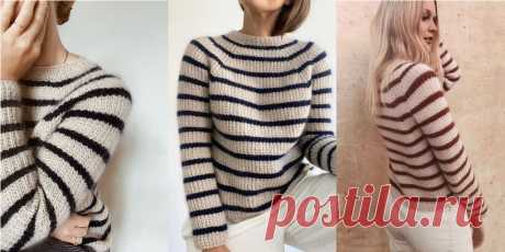 Джемпер с полосками Sweater No.12 - Вяжи.ру