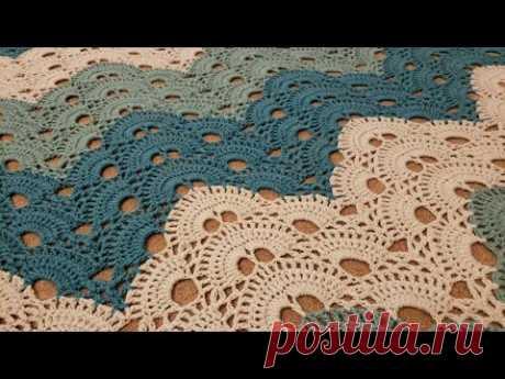 Part 4 - The Virus Chevron Blanket Crochet Tutorial! (Full Repeat)
