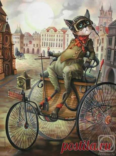 Кошки художницы Надежды Соколовой (2) - запись пользователя Tamariko (Тамара) в сообществе Декупаж в категории Картинки для декупажа
