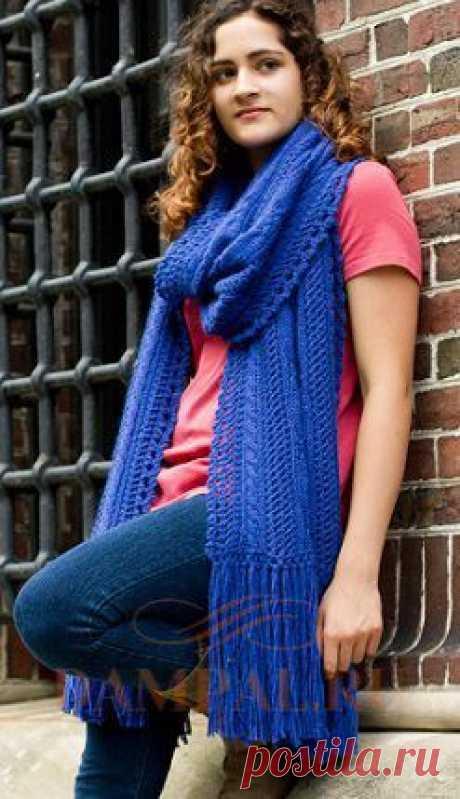 Knitted scarf palatine | Damskiye Palchiki. ru