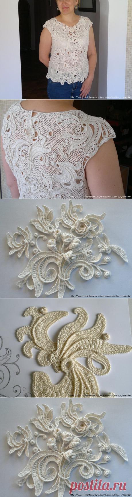 Необыкновенная кофточка от Лады Сергеевой, рисуем крючком!