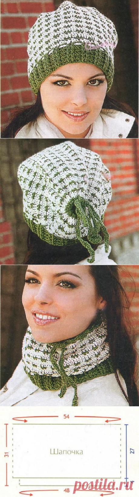 Шапка- шарф, шапка вязаная крючком схема бесплатно | Домоводство для всей семьи.