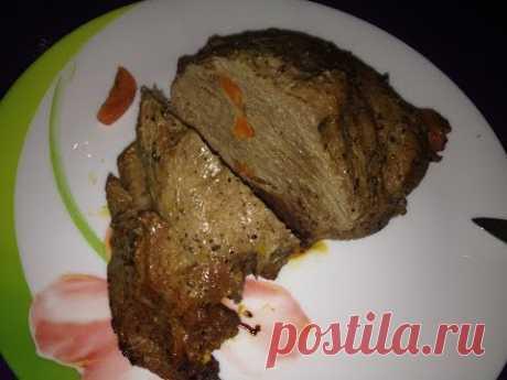 Мясо запеченное в рукаве в мультиварке Redmond М 150. Запеченная свинина