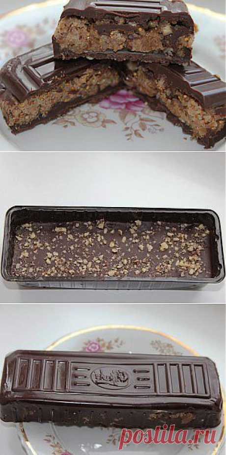 """Как сделать домашние шоколадные конфеты - батончики """"Искушение"""""""