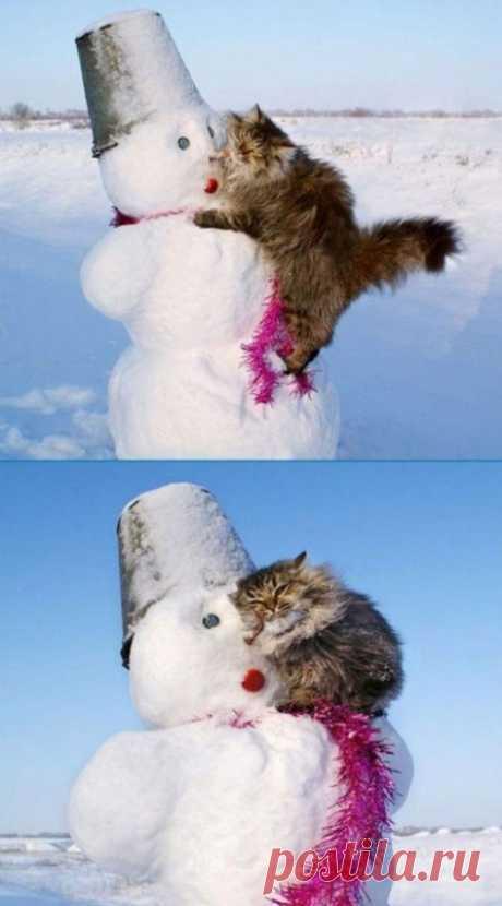 Даже если ты очень холодный, найдется тот, кто захочет тебя согреть)))