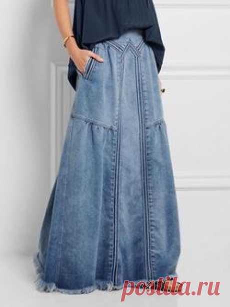 Модная женская повседневная джинсовая синяя нижняя одежда Trendycindy 1 - Trendycindy