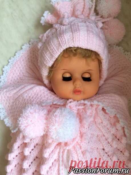Конверт для новорожденных | Вязание спицами для детей