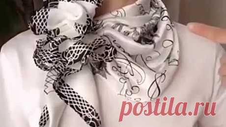 Завязываем красиво шарфики и платочки