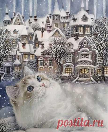 Если бы зима была животным, то это, наверняка, был бы кот. Такой же пушистый, как снежинка; такой же игривый, как метель; такой же нежный, как первый снег и такой же любимый, как Рождество.  Светлана Башлаева
