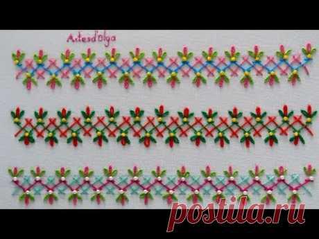 Hand Embroidery: Decorative Stitches #6 | Bordado a mano: Puntadas Decorativas #6 | Artesd'Olga - YouTube