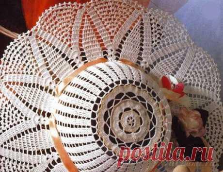 Ажурная шляпа вязаная крючком, схема по ссылке:      https://ru4kami.ru/vyazhem-aksessuary/726-shlyapa-kryuchkom.html