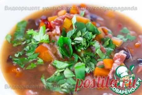 Густой острый фасолевый суп с беконом - кулинарный рецепт