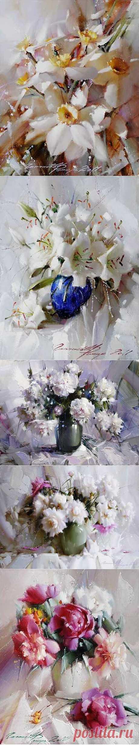 Художник Рамиль Гаппасов. Цветы | Usenkomaxim.ru
