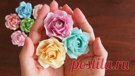Необыкновенные розы из обычной бумаги Когда заедают офисные будни, хочется приятных впечатлений, а до выходных ещё далеко, украсьте свой день и порадуйте коллег невероятно красивыми розами. Не надо бежать в цветочный магазин! Возьмите со ...
