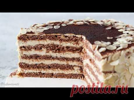 Немецкий торт АГНЕС БЕРНАУЭР (Agnes-Bernauer-Torte) ✶ Миндаль, какао, корица, кофе ✶ БЕЗ ГЛЮТЕНА