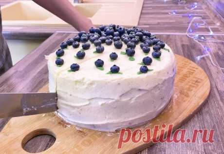 Торт с муссом из белого шоколада