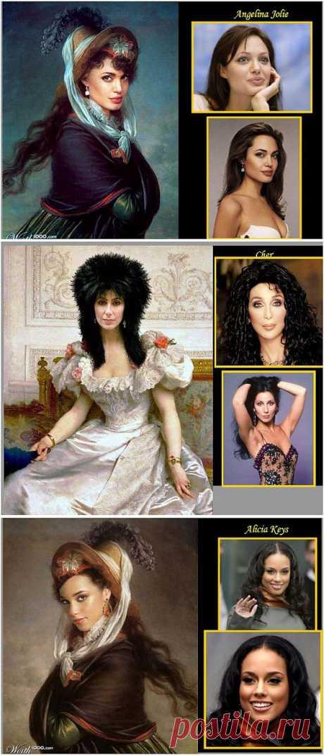 Знаменитые американские звезды в стиле эпохи Возрождения.