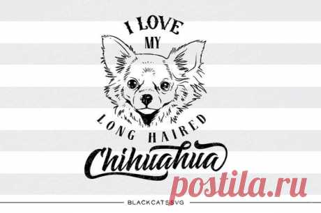 I love my long haired chihuahua -  SVG file Cutting File Clipart in Svg, Eps, Dxf, Png for Cricut & Silhouette - I love my chihuahua I love my long haired chihuahua - SVG file This is not a vinyl, the file contains only digital files, and no material items will be shipped. This is a digital download of a word art vinyl decal cutting file, which can be imported to a number of paper crafting programs like Cricut Explore, Silhouette and some other cutt