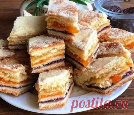 Трёхслойный пирог, фирменный десерт моей бабушки | Поварешка | Яндекс Дзен