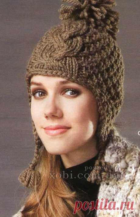 Женские вязаные шапки, шляпки, береты, кепки, панамки и повязки на голову » Страница 14