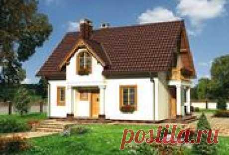 Проект дома с красивым балкончиком | Архитектурно-строительная компания DOM4M РФ