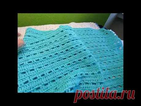 "Палантин"" Бирюза"" Вязание КРЮЧКОМ ,  crochet stole ( шаль № 181)"