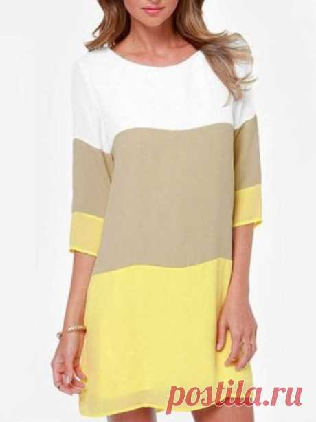 Shift Women Daytime Half Sleeve Elegant Paneled Summer Dress Buy Casual Dresses For Women at JustFashionNow. Online Shopping JustFashionNow Plus Size Crew Neck Women Casual Dress Shift Daily Dress Half Sleeve Elegant Chiffon Paneled Dress, The Best Going out Casual Dresses. Discover unique designers fashion at Just