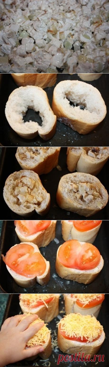 Как приготовить «пеньки» из багета - рецепт, ингридиенты и фотографии