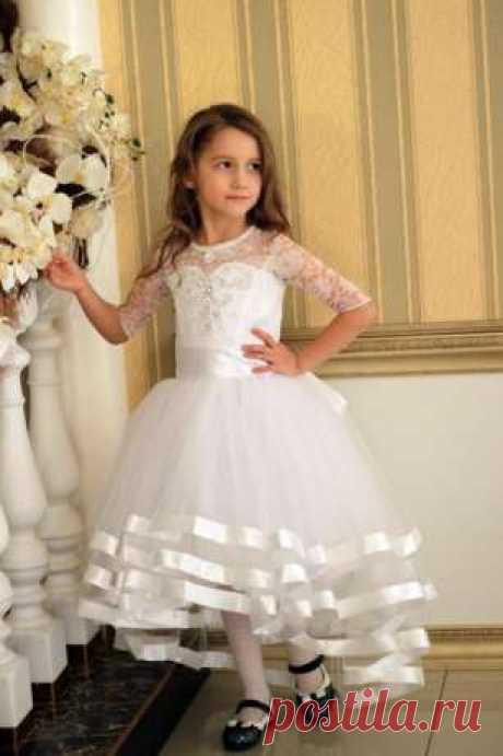 """Белое каскадное платье """"Ангелина"""": 600 грн. - Одежда для девочек Черновцы на Olx"""