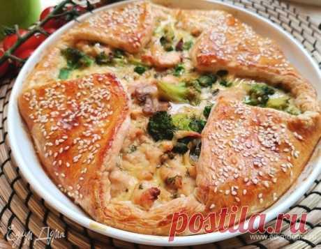 Пирог с курицей и овощами , пошаговый рецепт на 2007 ккал, фото, ингредиенты - Екатерина Корженевская