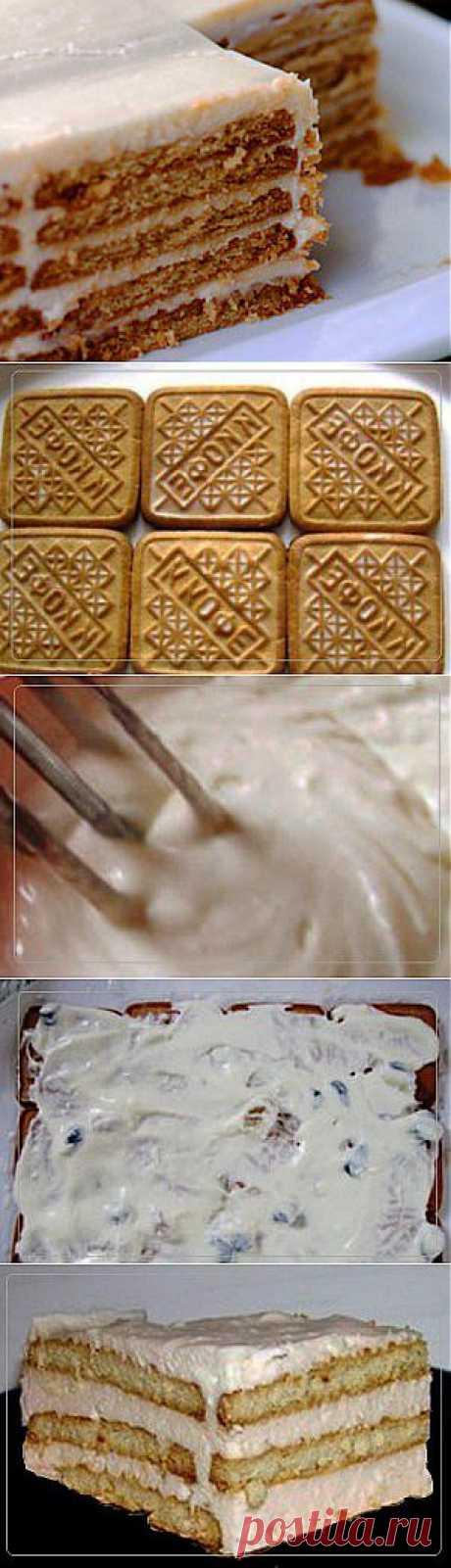 Торт из печенья   Рецепты вкусно