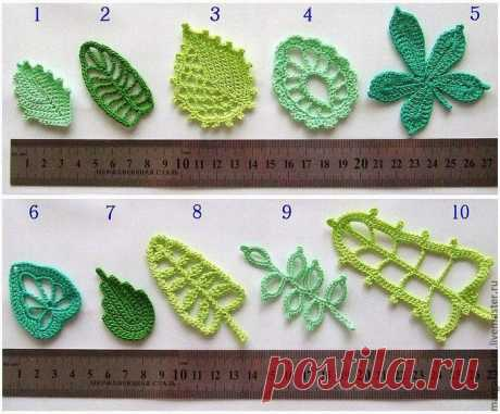 Irish lace. We knit leaflets and branches a hook